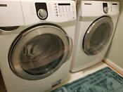 Gently Used White Silver Samsung Washer And Dryer Set White Local Pick Up Only