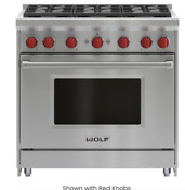 New Wolf Gr366 36 Gas Range Stainless Steel New