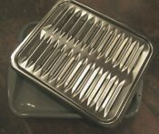 Oven Broiler Rack Pan 2 Piece 16 3 8 X12 3 4 Porcelain Enamel Stainless Grill