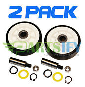 2 Pack New Ps1570070 Dryer Support Roller Wheel Kit Fits Maytag Amana Whirlpool