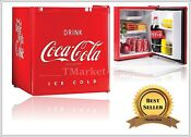 Commercial Coca Cola Mini Fridge Freezer Compact 1 7 Cu Ft Dorm Refrigerator Red