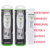 2 Pack Everydrop Edr4rxd1 Maytag Ukf8001 4396395 Whirlpool Water Filter 4