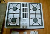Jenn Air White Gas Cooktop Jgd8130adw Whit Gril And Two Cartridges 4 Burners