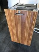 Miele Incognito 18 Slimline Dishwasher Fully Integrated Tiger Wood Finish