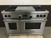 Wolf Df484f 48 Professional Dual Fuel Range Stove 4 Burners French Top
