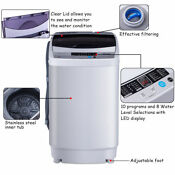 1 6 Cu Ft Portable Compact Laundry Washing Machine Spin Washer Drain Pump Pipe