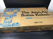 Vintage Jenn Air Rotiss Kebab Rotisserie Grill Model A 311 New Unused