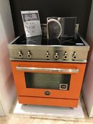 Bertazzoni 30 Orange Electric Stove Bpr0304insar