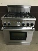 Thermador 30 Pg304bs Pro Grand Gas Range Oven 4 Burner Stainless Steel