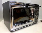 Vintage Amana Radarange Microwave Oven Cookmatic Rr 7b Chrome Retro Cool Kitchen