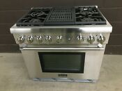 Thermador Prd364nlhu 36 Dual Fuel Pro Harmony Range 4 Burners Grill