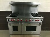 Wolf 48 R484cg Professional Gas Range 4 Burner Charbroil Griddle Stainless