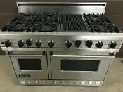 Viking 48 Pro Range Vgsc486qss Gas 6 Burners Grill Stainless