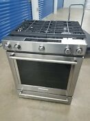 Kitchenaid 30 Gas Range Slide In Convection Oven Stainless Steel Ksgg700ess1
