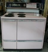 Big Vintage Mcm 1962 Pink Ge Electric Stove Range Amazing Shape