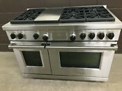 Wolf Df486g 48 Professional Dual Fuel Range Stove 6 Burners Griddle Pro
