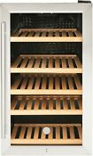Ge 125 Can 31 Bottle Beverage And Wine Center Stainless Steel