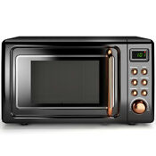 0 7cu Ft Retro Countertop Microwave Oven 700w Led Display Glass Turntable New