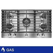 Kitchenaid 36 Gas Cooktop With Professional Dual Ring Burner Cookshield