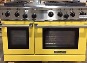 American Range 48 All Gas 6 Open Burners Griddle Yellow