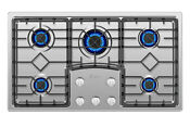 Cooktop Empava 36 Gas 5 Burners Built In Stove Tops Stainless Steel Cooker B90s