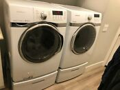 Samsung Front Load Washer 4 0 Cu Ft Gas 7 3 Cu Ft Dryer With Pedestals