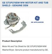 Motor Kit And Tub Sheild For Ge Gtup270em1ww Washer Dryer
