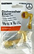 Eastman Brass Dishwasher Elbow Connector 3 8 In Comp X 3 4 In Fht