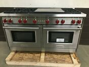 Wolf Gr606dg 60 Professional All Gas Range Stove 6 Burners Double Griddle