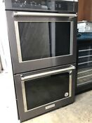 Kitchen Aid 30in Black Stainless Steel Smart Double Wall Oven Power Kode900hbs