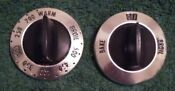 Vintage Ge Hotpoint Oven Control Knob Set Of Two 2 277c399p01 And 277c399p002