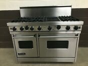 Viking 48 Pro Range Vgic485 6qss Gas 6 Burners Grill Stainless Steel