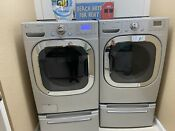 Lg Washer Dryer Stainless Steel Quiet Laundry Set With Pedestals Local Pickup