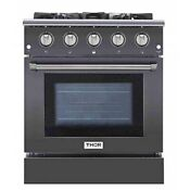 Thor Kitchen Hrg3080gmt 30 Freestanding Professional Style Gas Range With 42 Cu