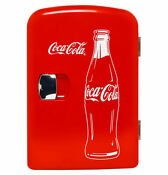 New Coca Cola 6 Can Mini Cooler Fridge 12v Car 120v Ac Wall Power Cord Portable