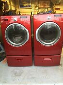 Samsung Washer Dryer Laundry Set W Pedestals Local Pickup Only No Shipping