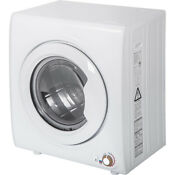 9 Lbs Compact Tumble Laundry Dryer Clothes Dryer Washer Dryer 2 65 Cu Ft White