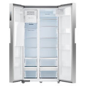 Smad 26 Cu Ft Side By Side Refrigerator In Fingerprint Resistant Stainless Steel