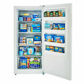 Smad 13 8 Cu Ft Frost Free Upright Freezer Fast Freeze Led Energy Star Rated
