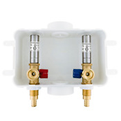 1 2 In X 3 4 In Mht Brass Washing Machine Outlet Box With Water Hammer With 1