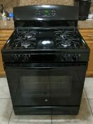 Ge Jgbs60def1bb 30 Black Freestanding Gas Range