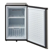 Smad 3 0 Cubic Feet Upright Freezers Stainless Steel With Lock Stand Up Freezer