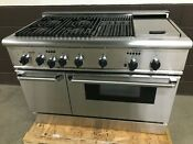 Thermador 48 Prds484ggus Dual Fuel Range Professional 4 Burners Griddle Grill