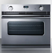 Summit Sgwo30ss 3 0 Cu Ft 30in Single Gas Wall Oven Convection Stainless Steel
