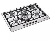 30 Inch Stainless Steel 5 Burner Built In Stoves Ng Lpg Gas Cooktop Cooker Siver