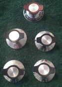 Vintage Oven Range Knob Set Of 5 For Slotted D Shaft