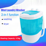 Portable Compact Washing Machine Mini Laundry Washer W Spin Dryer For Apartment