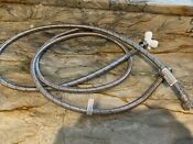 New 2 Everbilt 5ft Washing Machine Supply Line Hoses Braided Stainless Hot Cold