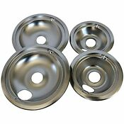 Set Of 4 Stove Top Reflector Bowls Range Drip Pans For Ge Hotpoint 6 8 Burners