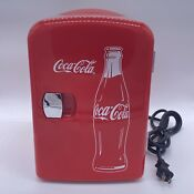 Classic Coca Cola Portable Fridge Mini Cooler For Food Beverages Tested Working